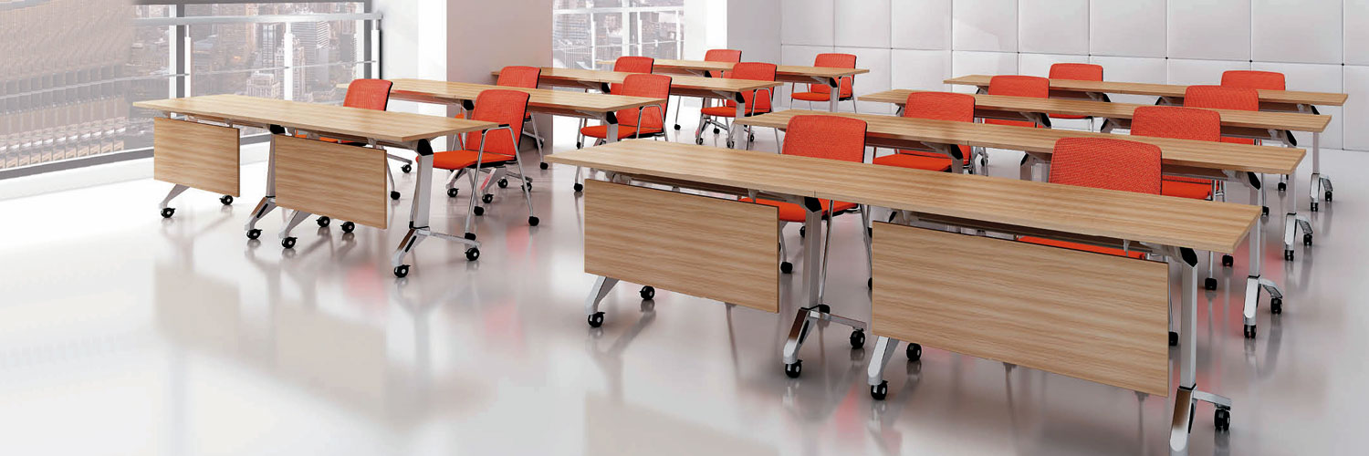 training furniture-foldable tables