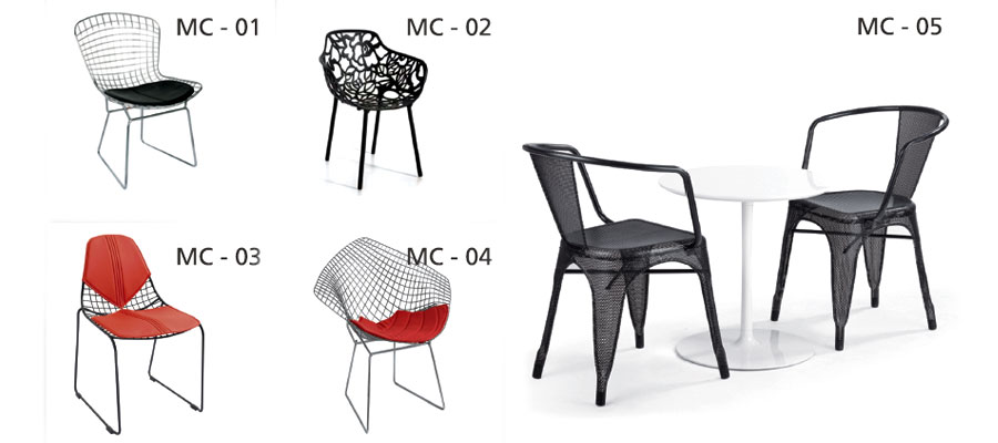 cafe furniture-metal