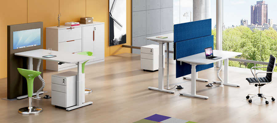 height adjustable tables-motorised
