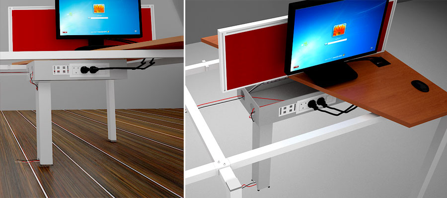 desking work station-loop system