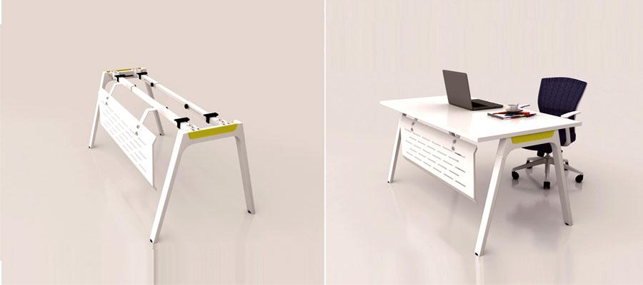 desking work station-curve system