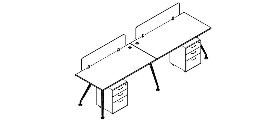 desking work station-neptune system