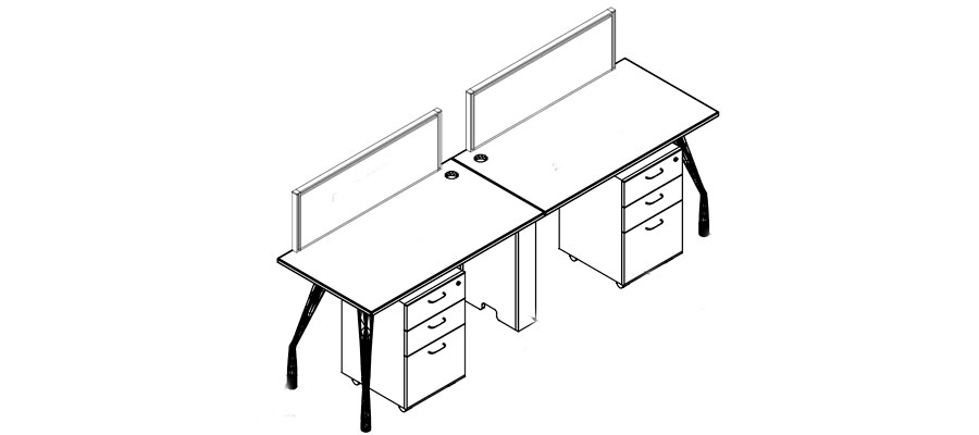 desking work station-mercury system