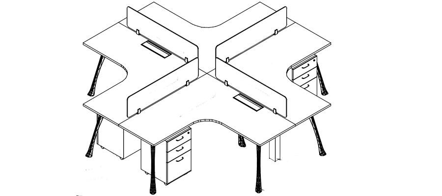 desking work station-mars system