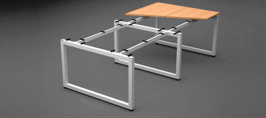 desking work station-loop system