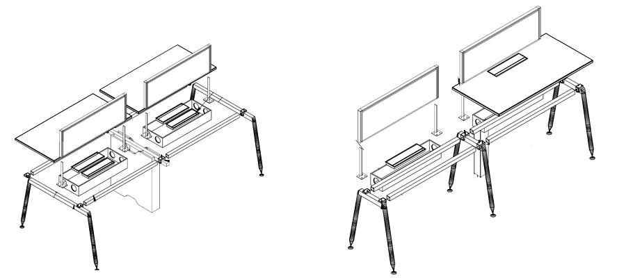 desking work station-rl system