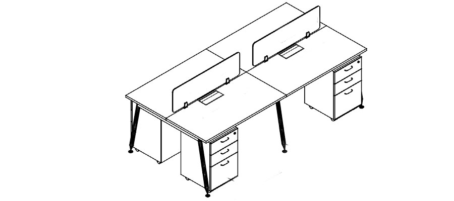 desking work station-rl system